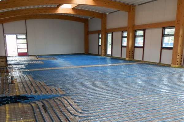 underfloor heating in public buildings
