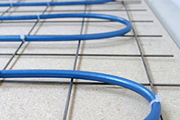 wet (water) or dry (electric) underfloor heating systems