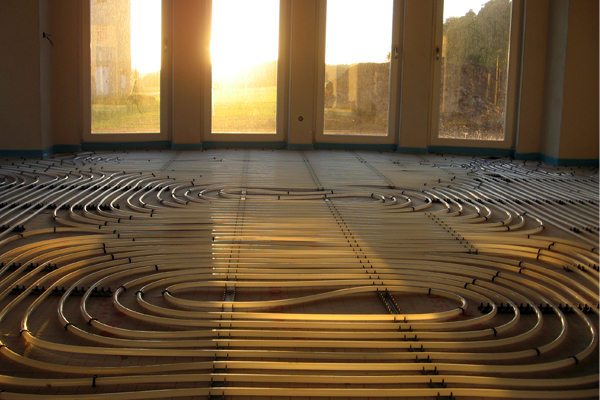 Heat emitters: underfloor heating, radiators