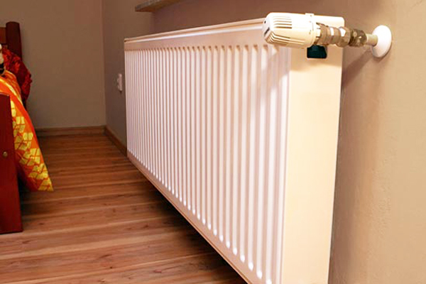 Heat emitters: radiators, underfloor heating, convection fans.