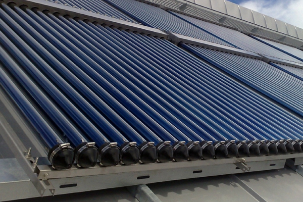 Solar thermal panels are used to heat domestic hot water using the ...