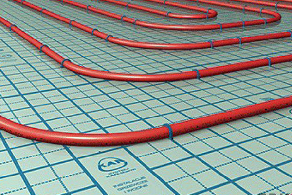 underfloor heating heat output