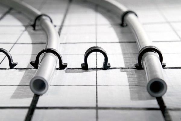 underfloor heating pipe spacings