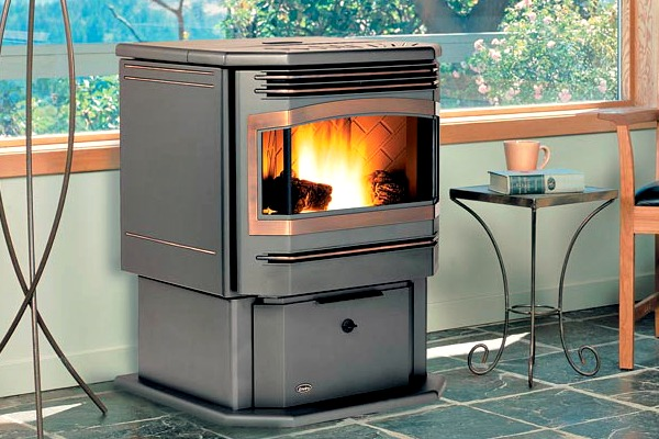 How much space do i need for a wood pellet stove the green home - Pellet stoves for small spaces set ...