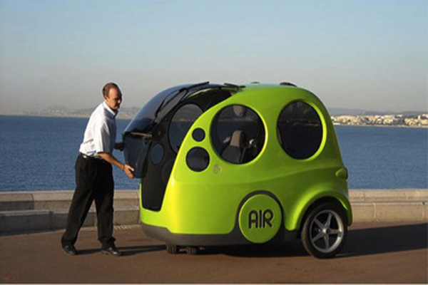 A picture of a prototype air car