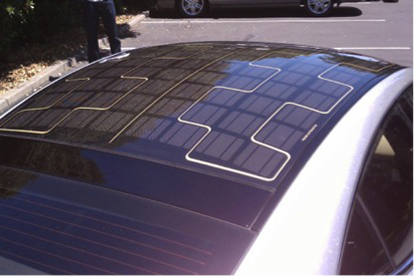 Photovoltaic panels for solar cars